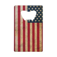 Vintage American Flag Credit Card Bottle Opener