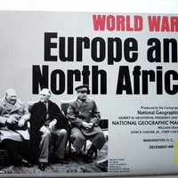 WW2 Map Europe/Africa National Geographic by Latrouvaille on Etsy