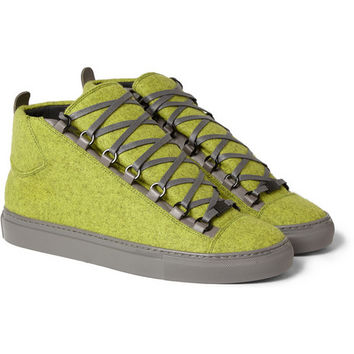 Balenciaga - Arena Felt and Leather High Top Sneakers | MR PORTER