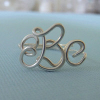 Handcrafted Monogram Ring (SS)