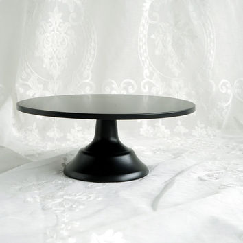 SWEETGO matte black cake stand 12 inch wedding dessert decorators fondant cake decorating tools bakeware candy bar supplies