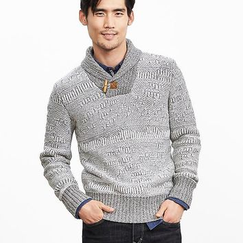 Banana Republic Mens Heritage Elbow Patch Pullover