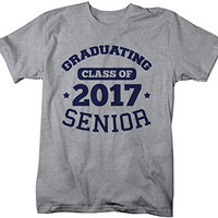 Shirts By Sarah Men's Graduating Class 2017 Senior Graduate T-Shirt