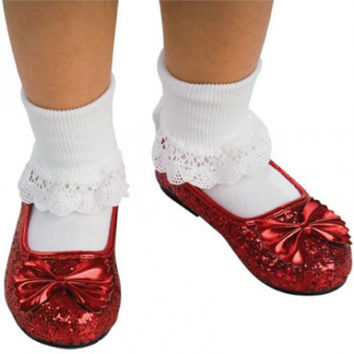 the wizard of oz - ruby child slippers | (large)