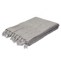 Lydka Throw Blanket, Silver