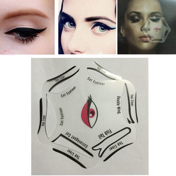 Multifunction Eye Stencil 3 Style Cat Eyeliner Stencil For Eye Liner Template Card Fish Tail Double Wing Eyeliner Stencil Makeup