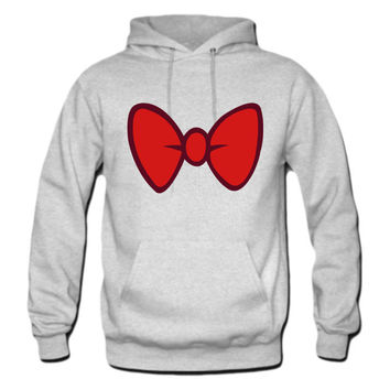 Mickey Mouse style cartoon bow tie hoodie