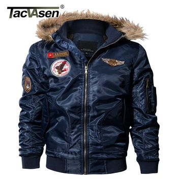 Trendy TACVASEN Men Bomber Jacket Winter Parkas Army Military Motorcycle Jacket Men's Pilot Jacket Coat Cargo Outerwear TD-QZQQ-013 AT_94_13