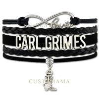 Walking Dead Carl Grimes Leather Bracelet