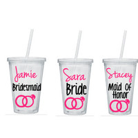 Bridesmaid Tumbler, Bridesmaid Tumblers, Personalized Bridesmaid Tumblers, Bridesmaid Gift, Bride Tumbler, Bridesmaid Gifts