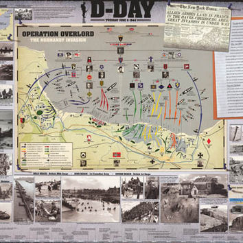 D-Day Invasion of Normandy WWII History Poster 24x36