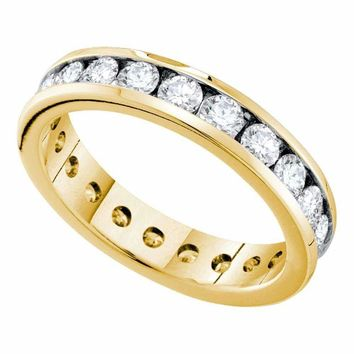 14kt Yellow Gold Women's Round Channel-set Diamond Eternity Wedding Band 2.00 Cttw - FREE Shipping (US/CAN)