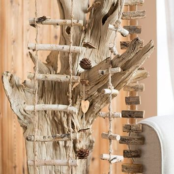 Rustic Wood String Ornament