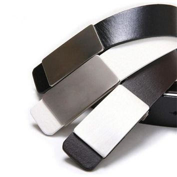 Men's Artificial Leather Automatic Buckle Belts