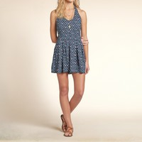 Patterned Halter Romper