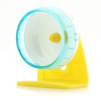 Plastic Mute Exercise Wheel with Bracket Toy for Pet Rat Hamster Mouse - Default