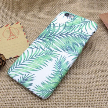 Original Coconut Leaves iPhone 7 7Plus & iPhone 6s 6 Plus Case Cover + Free Gift Box
