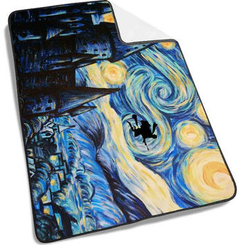 Starry Night Harry Potter Blanket