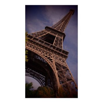 Paris Eiffel Tower Famous Landmark Photo Poster
