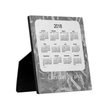 2018 Desk Calendar Tracks 5.25 x 5.25 with Easel Display Plaques