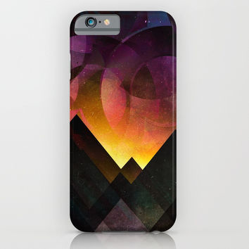 Whimsical mountain nights iPhone & iPod Case by HappyMelvin