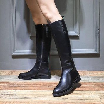 """GUCCI Fashion """"Monogram Empriente"""" Fashion Women black Leather high heels shoes Ankle knight Boots Winter Autumn Best Quality"""