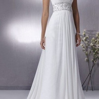 Grecian Chiffon Wedding Dress with Empire Waist