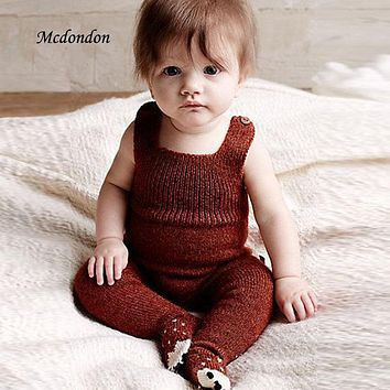 Hand Knitting Cotton Soft 0-3 years Newborn Baby Warm Romper For Infant Girls Boys winter clothes Rompers Jumpsuits Winter A263