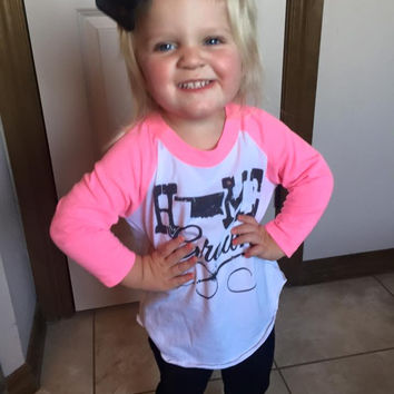 Home Grown with Pink 3/4 Sleeves- Toddler & Kids (Oklahoma)
