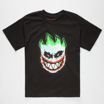 Spitfire Serious Boys T-Shirt Black  In Sizes