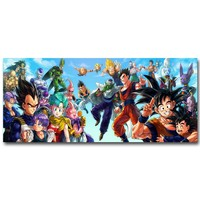 Dragon Ball Z Art Silk Fabric Poster Print 13x30 24x55inch Japanese Anime Goku Picture for Living Room Wall Decor Gift 057