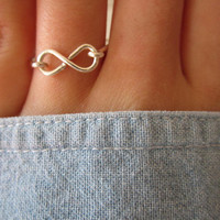 Infinity Ring by LovelyLittleRings on Etsy