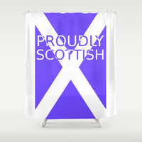 Proudly Scottish Shower Curtain by Twin Ring Design