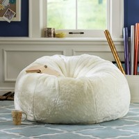 Ivory Luxe Fur Small + Large Beanbags