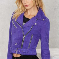 Nasty Gal Electric Youth Suede Moto Jacket