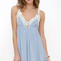 Sweet Talk Periwinkle Blue Lace Dress