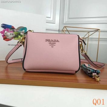 HCXX 19Aug 987 Prada Fashion Leather Zipper Double Bag Shoulder Crossbody Pouch Bag 21-15-9cm