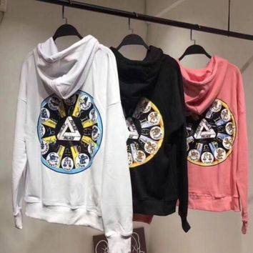 DCCKN7G PALACE Fashion Constellations Print Hooded Top Sweater Hoodie