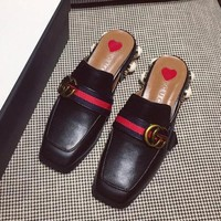 Gucci Women Fashion Casual Low Heeled Shoes Slipper Shoes-1