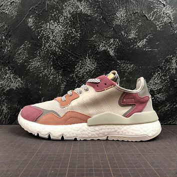 Adidas Nite Jogger 2019 Boost Grey Pink Sport Running Shoes