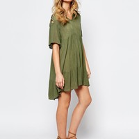 BA&SH Richie Cut Out Shoulder Dress at asos.com