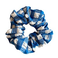 Blue Gingham Scrunchie