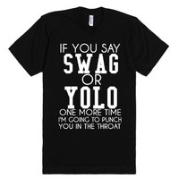 Swag Or Yolo-Unisex Black T-Shirt