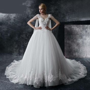 Wedding Dresses Couture Ball Gowns Elegant Royal Train Wedding Dress Tulle Bridal Gowns