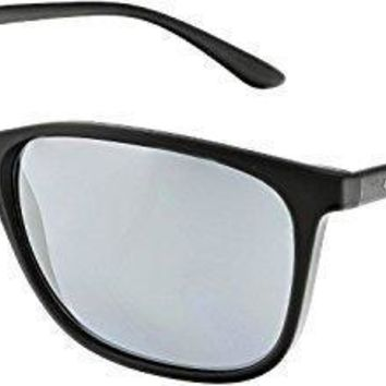 Giorgio Armani Men's Mirrored Ar8084 50426g 57 Black Rectangle Sunglasses