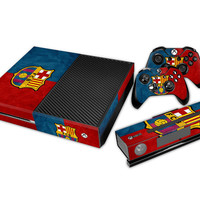 New Arrival Hot Design Barcelona Sticker for Xbox One Console+2Pcs Controller Skin+Kinect Protective Cover