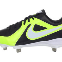Nike Unify Strike Metal Women's Black White Neon Yellow Softball Cleats Shoes