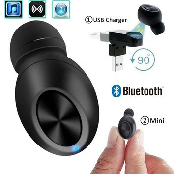 Small Wireless Bluetooth Earphone Mini Bluetooth Wireless Earphone Magnetic USB Charge Mono Smallest Earbud Hidden Invisible Ear
