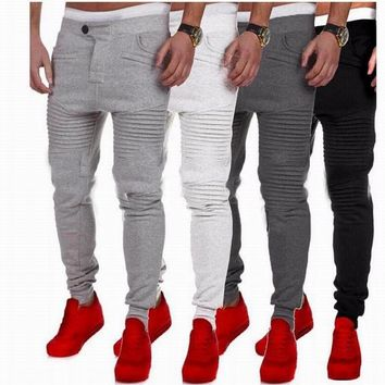 Mens Jogger Casual Trousers Men Elastic Pants Harem Pants Sweatpants Jogger Hip Hop Sportwear Fashion Wear