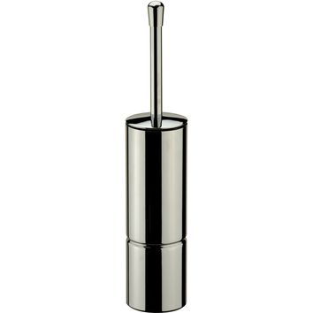 DI Floor Standing Polished Chrome Bath Toilet Brush Bowl Cleaner and Holder